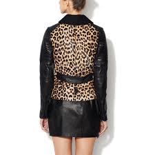 motorcycle waistcoat online women leather leopard print jacket