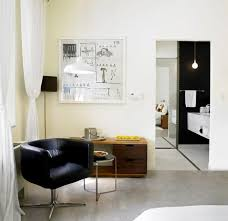 modern chic bedroom interior design king suite nu hotel rooms