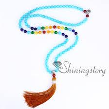 spiritual jewelry chakra necklace 108 prayer seven chakra necklaces