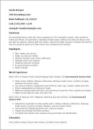 Dietary Aide Resume Samples by 19 Dietary Aide Resume Professional Environmental Service
