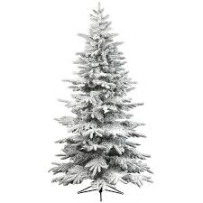 kaemingk everlands snowy alaskan flocked christmas tree 6ft