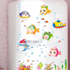 baby nursery decorative wall stickers decorations large size child room decoration stickers underwater for kid toilet the bathroom pink