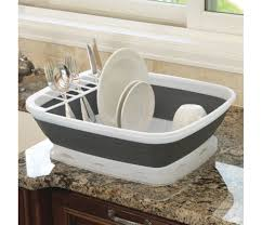 cool dish drying rack collapsible dish rack 19 inch snap on drain