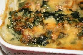 cuisiner epinard frais p gratin pommes de terre épinards frais et crème de brie un p