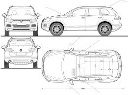 volkswagen drawing volkswagen tiguan 2007 blueprint download free blueprint for 3d