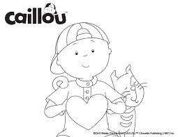 9 activities images caillou coloring sheets
