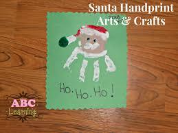 christmas arts crafts kids santa handprint tierra este 55311