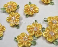 satin ribbon flowers wholesale yellow handmade satin ribbon flowers buy handmade