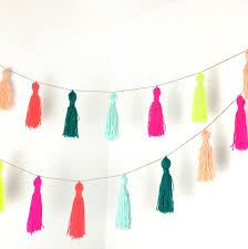 How To Make Halloween Garland How To Make A Yarn Tassel Garland Tassel Garland Garlands And