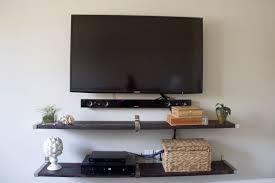 interior enchanting tv wall mount with shelf ideas decoriest