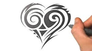 tribal tattoos with roses designs how to draw a cute tribal heart tattoo design just draw