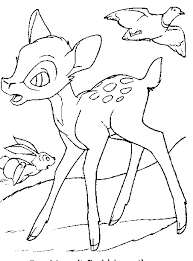 bambi coloring print bambi pictures color