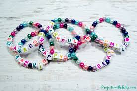 make bracelet with beads images Colorful beaded friendship bracelets for kids projects with kids jpg