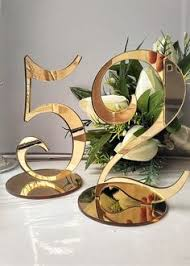 acrylic table numbers wedding acrylic table numbers for weddings and events standing numbers gold