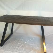 Circular Office Desk Hand Made Modern Office Desk Wood Top With Metal Base By Dallas