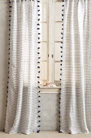 White Curtains With Pom Poms Decorating Curtains Drapes Window Treatments Anthropologie