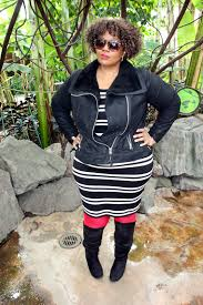 ootd layered stripes curvatude plus size fashion beauty and