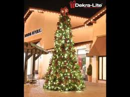 trees dekra lite commercial outdoor christmas decorations youtube