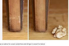 Fix Scratches In Wood Furniture by Use Walnut To Fix Scratches In Wood Accessorize The Nest