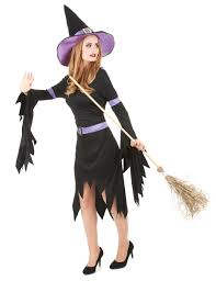 glamourous halloween witch costume for women adults costumes and
