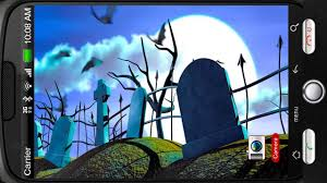 spooky halloween graveyard deluxe hd edition 3d live wallpaper for