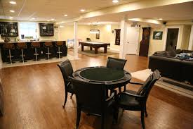basement finishing contractor creates dream family game room