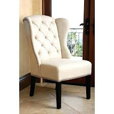 tufted nailhead dining chair tufted linen dining chair cream white