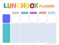 lunch box planner template free printable easy 5 day lunchbox planner lunch box free