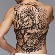 waterproof temporary tattoo sticker fighter men u0027s back tattoo