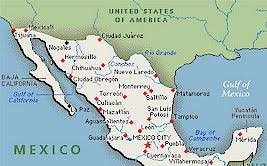 map usa mexico border map us mexico border major tourist attractions maps