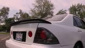 lexus is lip spoiler lexus is300 carbon fiber l tuned spoiler youtube