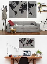 World Map Desk by 10 World Map Designs To Decorate A Plain Wall Contemporist