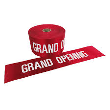 grand opening ribbon 4 wide with white letters grand opening ribbon