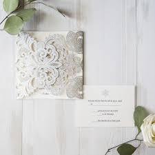 snowflake wedding invitations simple silver winter laser cut snowflake wedding invitations
