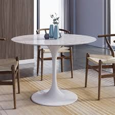 White Marble Dining Tables Saarinen Tulip Marble Dining Table