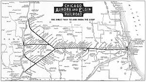 Map Of Chicago Suburbs Chicago Aurora And Elgin Railroad Wikipedia