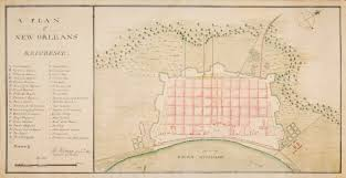 Map New Orleans French Quarter by The Geometry Of War Fortification Plans From 18th Century America