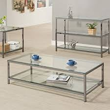 coaster company satin nickel coffee table amazon com coaster 720228 home furnishings coffee table black