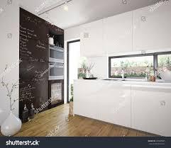 Kitchen D Modern Comfy Kitchen Interior 3 D Stock Illustration 292320695