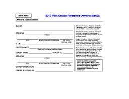 2012 honda pilot manual 2012 honda pilot owner s manual pdf 681 pages