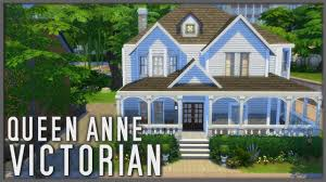 queen anne victorian family home the sims 4 speed build youtube