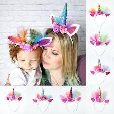 decorative headbands online shop creative gift lovely elastic flower lace unicorn horn