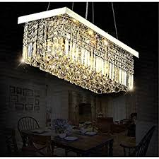 Lighting Dining Room Chandeliers by 7pm Modern Linear Rectangular Island Dining Room Crystal
