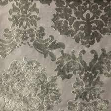 Traditional Upholstery Fabrics Florence Palace Damask Pattern Burnout Velvet Upholstery Fabric Bty