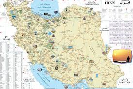 Caspian Sea World Map by Iran Tourist Map