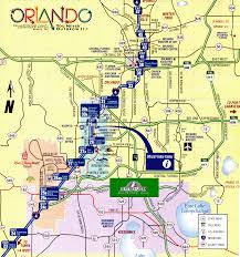 Map Of Orlando by Villas 4 Orlando Florida Location