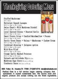 radical eats december catering menu the houston vegan