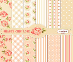 Shabby Chic Rose by 12 Shabby Chic Rose Digital Scrapbook Paper Pack For Invites