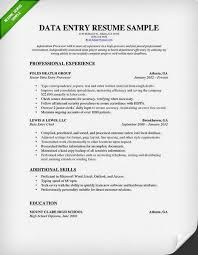Examples Of Skills For A Resume by Data Entry Resume Sample U0026 Writing Guide Rg