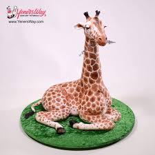 giraffe cake 3d giraffe cake cake by serdar yener yeners way cake